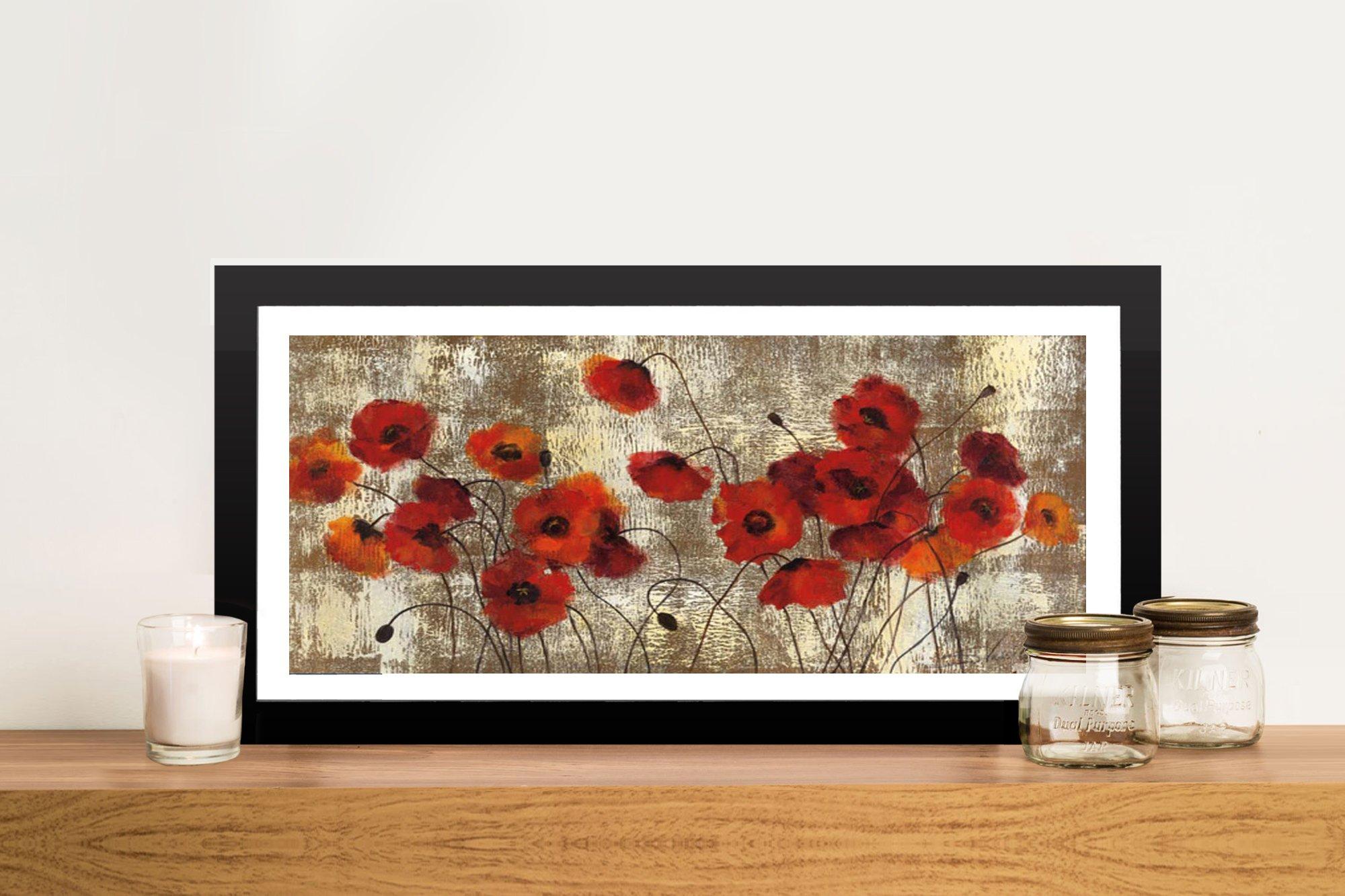 Tender Poppies Framed Print on Canvas