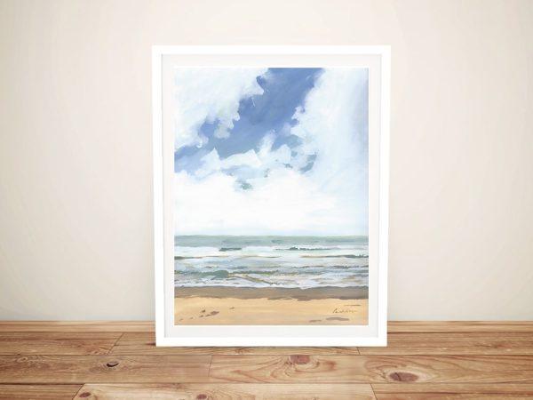 Walk on the Beach l Framed Art on Canvas