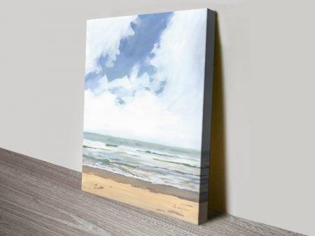 Walk on Beach l Seascape Print on Canvas