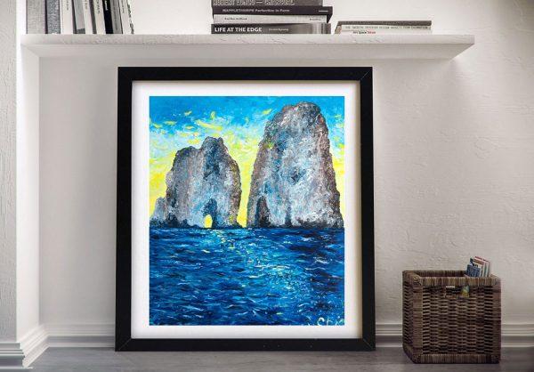 Buy a Framed Print of Capri at Sunrise