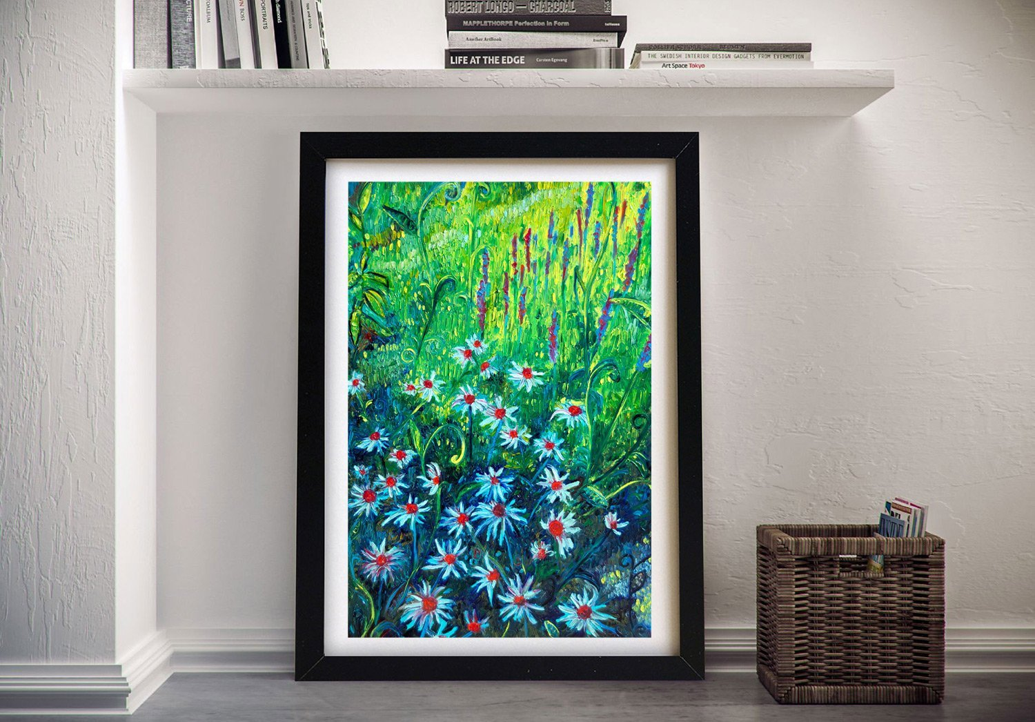 Echinacea Framed Floral Print on Canvas