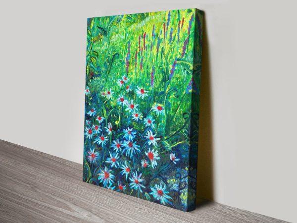 Echinacea Stretched Canvas Landscape Art