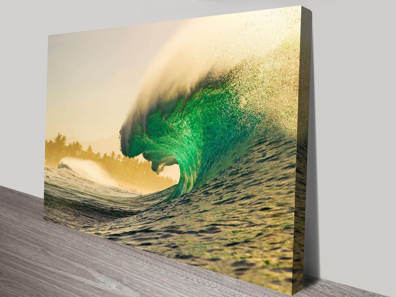 Empty Waves Surfscape Quality Canvas Art