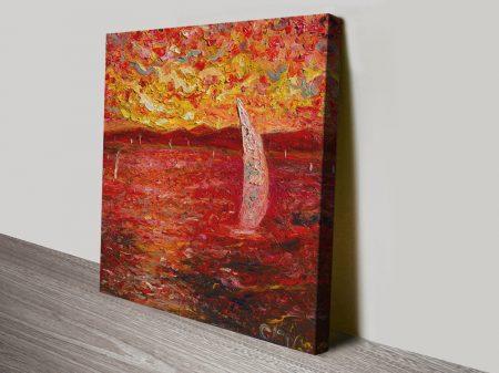 Garda Lake Colourful Canvas Print on Canvas