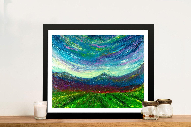 Purple Hug Framed Landscape Canvas Art