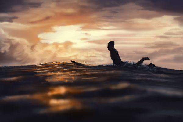 Sunset Surfing Affordable Art Online