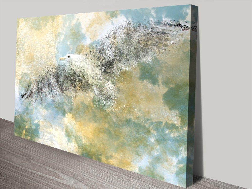 Vanishing Seagull Digital Art by Melanie Viola
