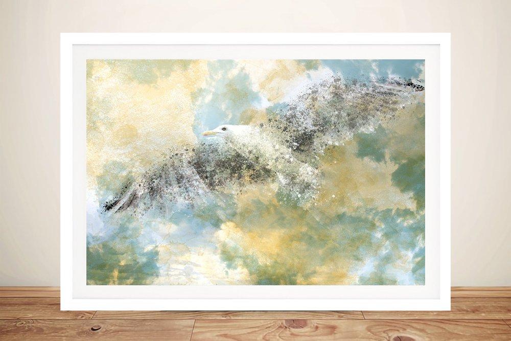 Vanishing Seagull Framed Art Gift Ideas AU