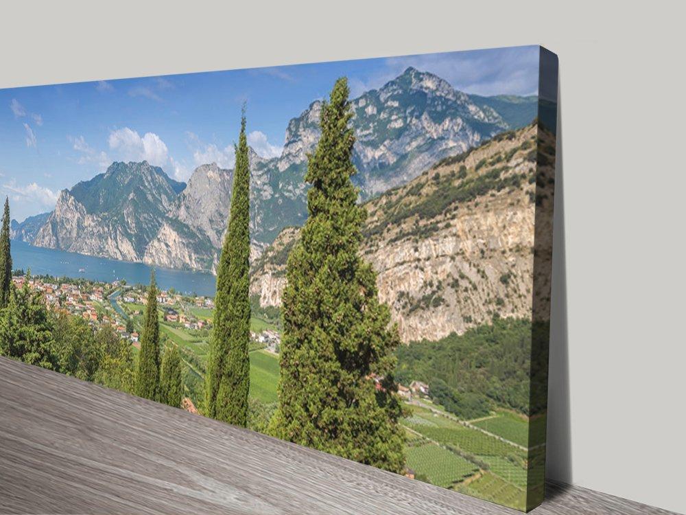 Lake Garda Landscape Stretched Canvas Print