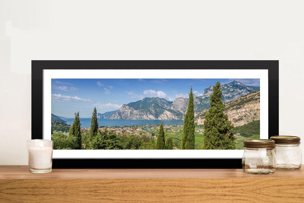 Lake Garda Framed Panoramic Wall Art Online