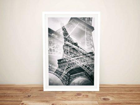 Eiffel Tower Double Exposure Framed Print
