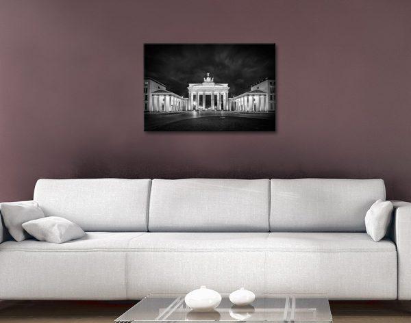 Brandenburg Gate Stretched Canvas Art