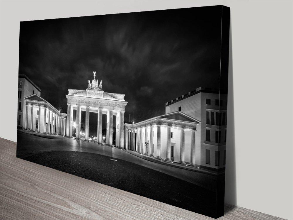 Brandenburg Gate Monochrome Wall Art