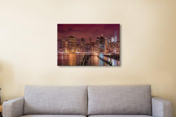 NYC Skyline Art Quality Canvas Print AU