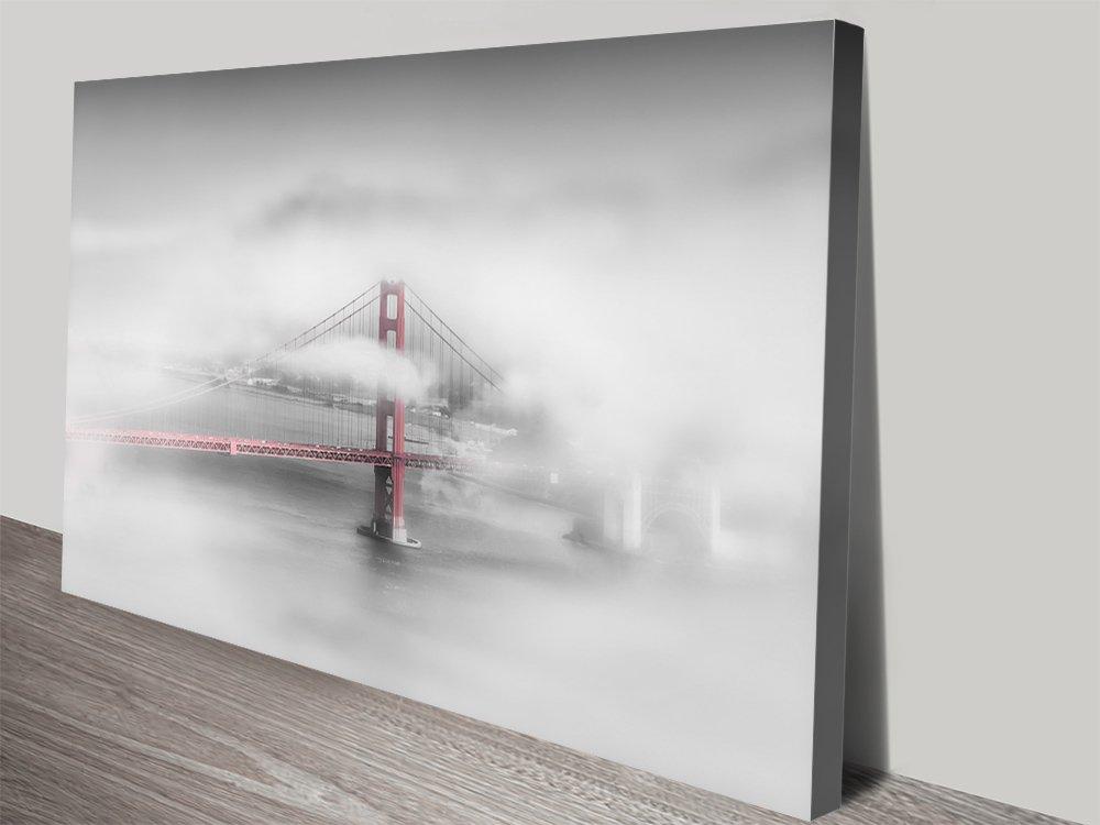 Foggy Golden Gate Bridge Canvas Artwork