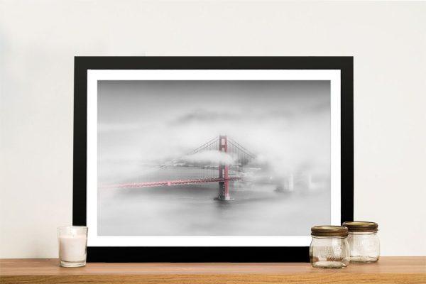 Buy Foggy Golden Gate Bridge Framed Art