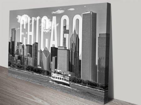 Chicago Skyline Stretched Canvas Artwork