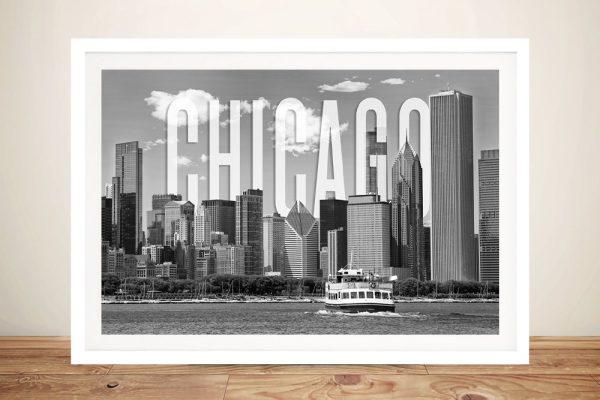 Chicago Skyline Framed Cityscape for Sale AU