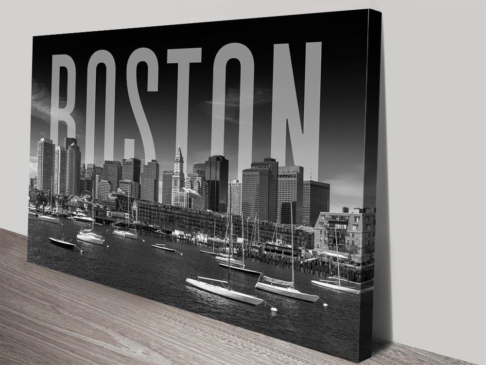 Affordable Boston City Skyline Art Gift Ideas AU
