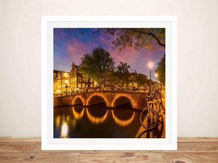 Idyllic Nightscape from Keizersgracht Framed Art
