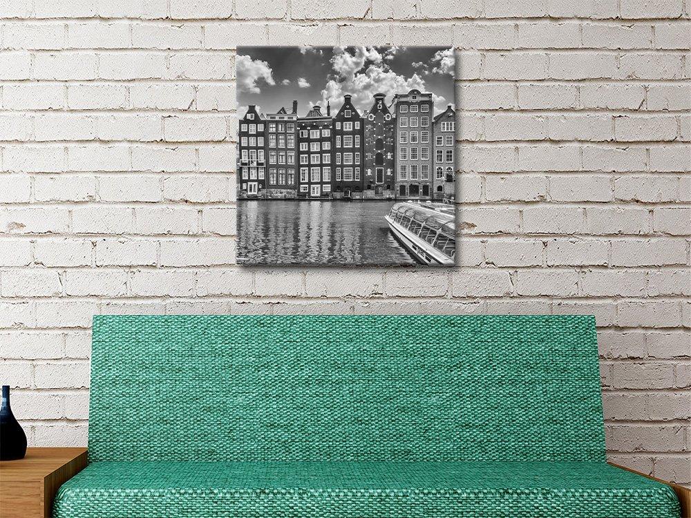 Amsterdam Cityscape Monochrome Artwork