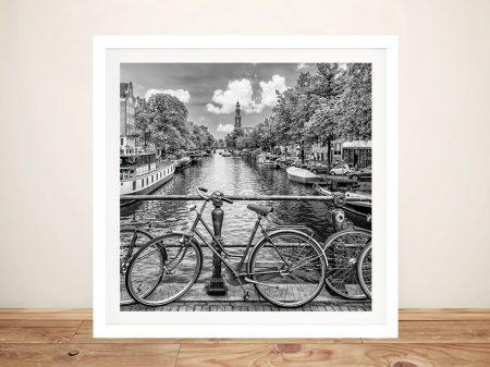 Typical Amsterdam Framed Monochrome Art
