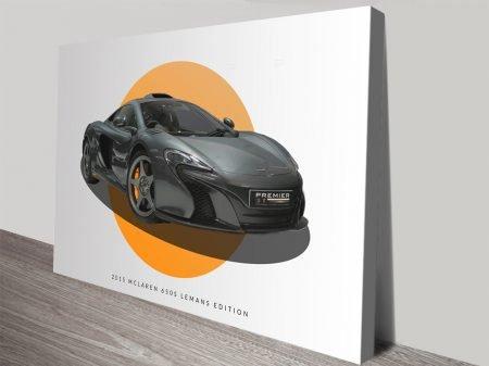 2015 McLaren 650s LeMans Motor Car Art