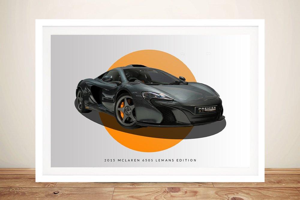 Framed McLaren 2015 LeMans Art on Canvas
