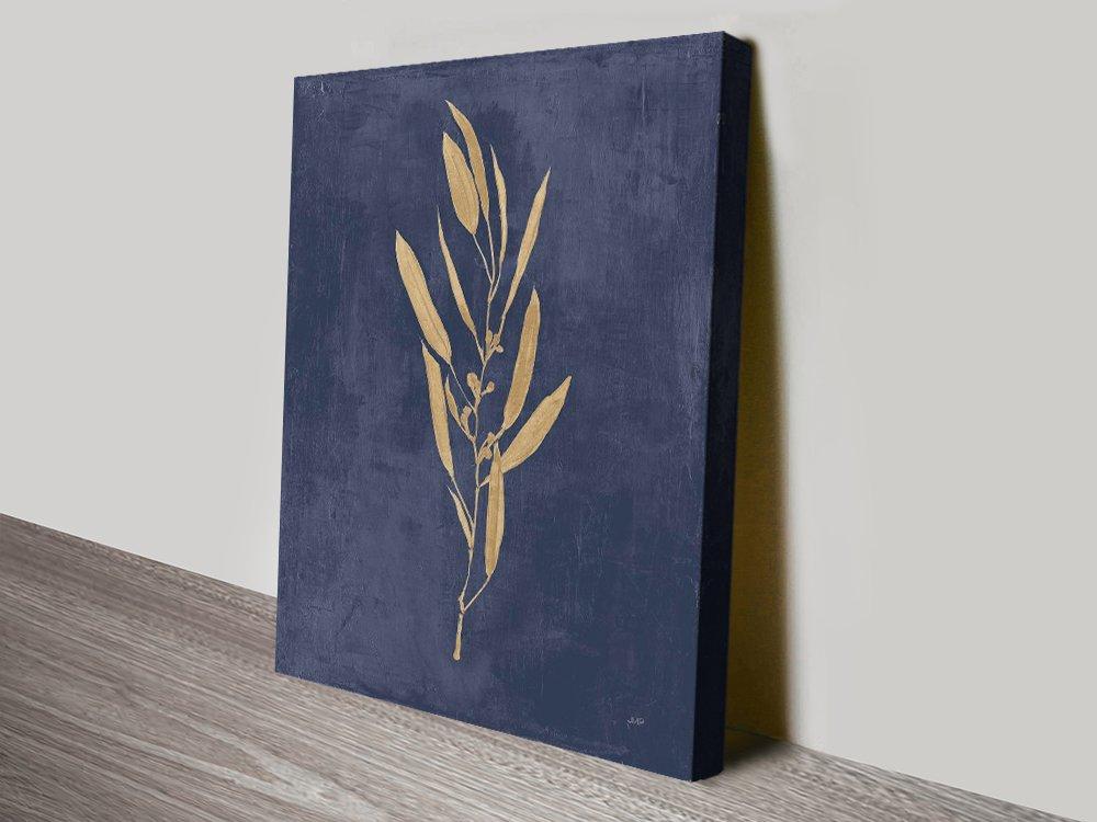 Julia Purinton Blue & Gold Abstract Art AU