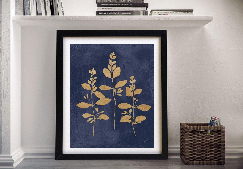 Navy & Gold Framed Julia Purinton Canvas Art