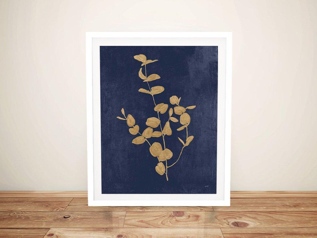 Framed Navy & Gold Botanical Art Gift Ideas AU