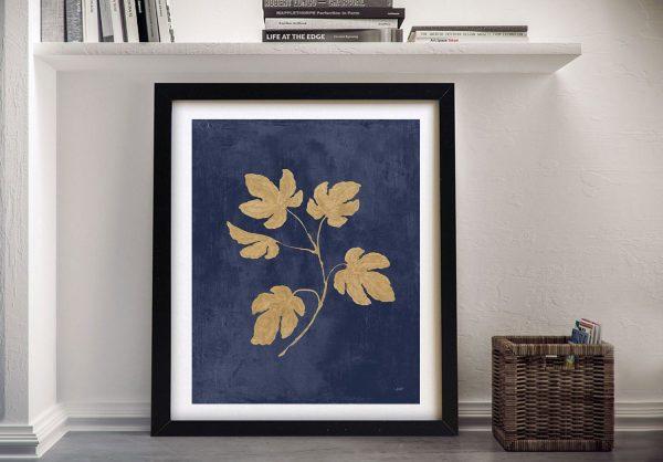 Botanical Study lll Navy & Gold Canvas Print