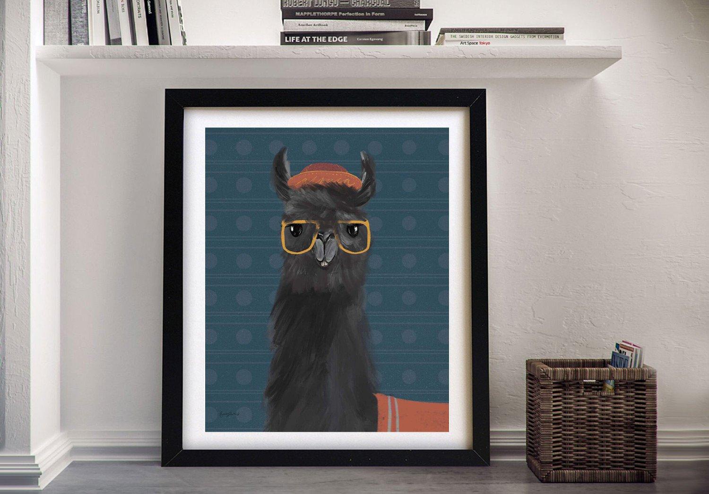Delightful Alpacas lV Framed Abstract Art