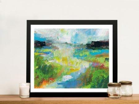 Misty River Framed Print on Canvas