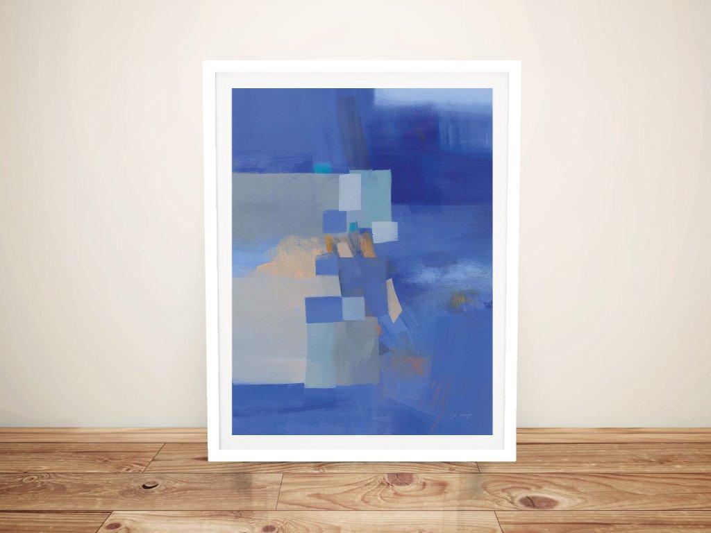 Blue Dawn Framed Jo Maye Canvas Print AU