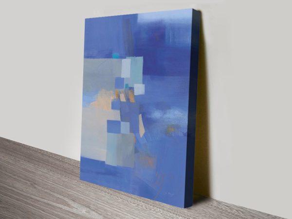 Blue Dawn High-Resolution Abstract Art