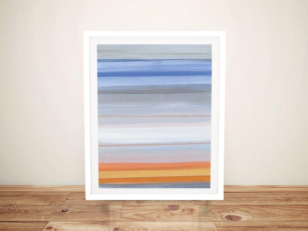 Horizons Framed Abstract Beachscape Art