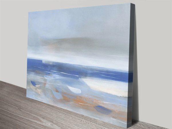 Calm Sea Seascape Abstract Print on Canvas