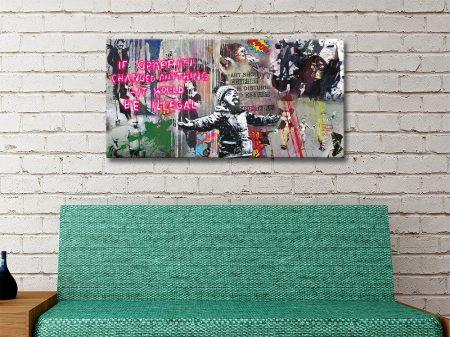 Banksy Compilation Panoramic Art Print