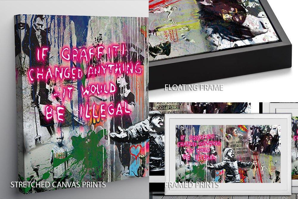 Banksy Panoramic Graffiti Compilation for Sale
