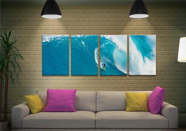 Big Sets Split Panel Surf Art Gifts for Surfers AU
