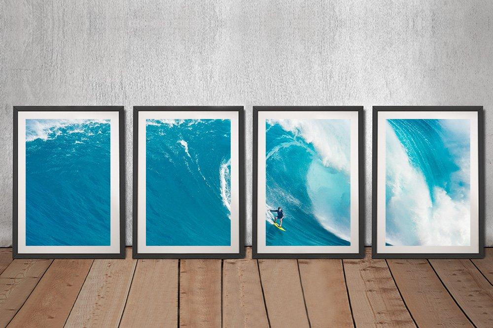 Big Sets 4-Piece Surf Art Set on Canvas
