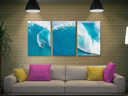 Big Sets Surfing Wall Art 3-Piece Artwork