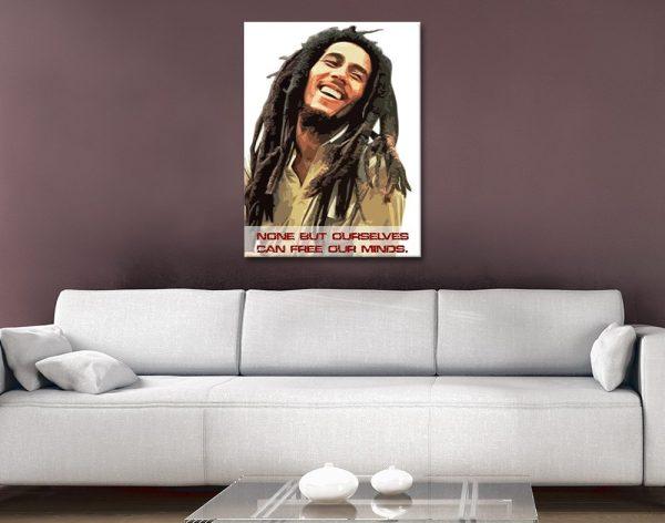 Bob Marley Wall Art Great Gift Ideas Online