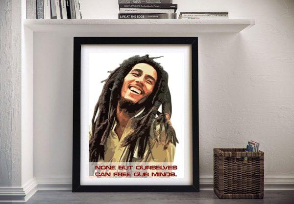 Bob Marley Quote Framed Canvas Art