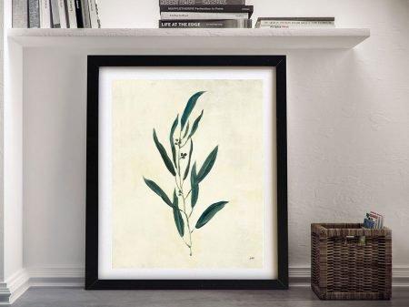 Framed Botanical Study V Vintage Effect Art