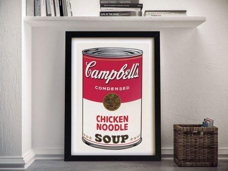 Campbell Soup Framed Wall Art