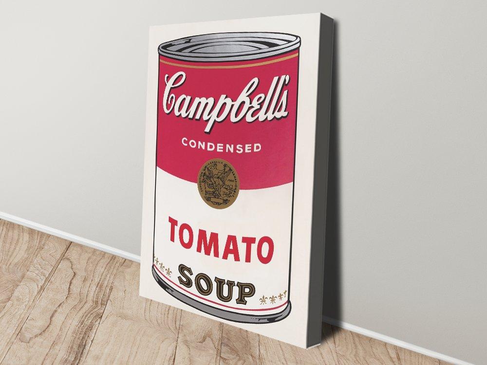 Campbell tomato Soup warhol canvas Print