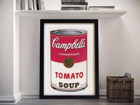 Campbell tomato Soup warhol Wall Art