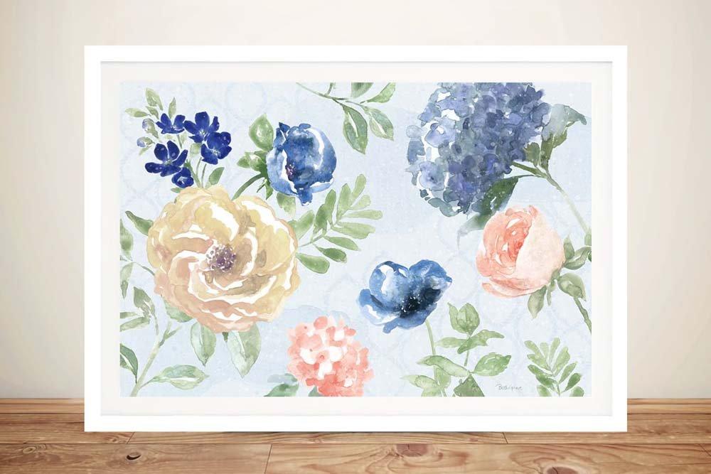 Framed Floral Canvas Print Gifts for Girls AU